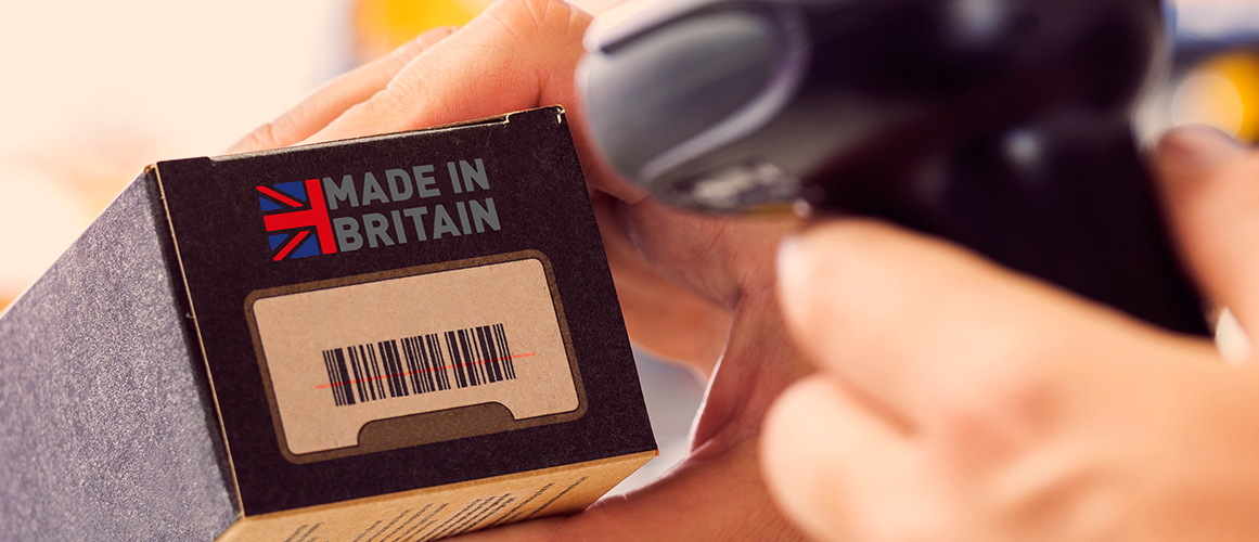 Free to use Made in Britain logo on packaging